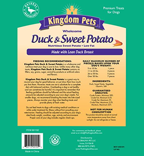 Kingdom Pets Premium Dog Treats, Duck And Sweet Potato Jerky Twists, 48 Ounce