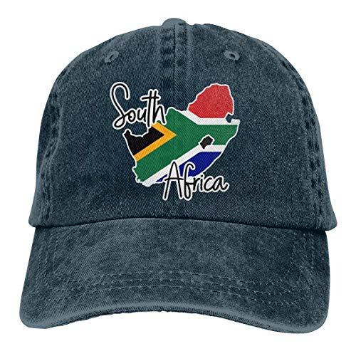 Not Applicable Transpirable Ocio Sombrero,Cómoda Sombrero De Deporte,Secado Rápido Dad Hat,Gorra De Béisbol De Mezclilla De Algodón Ajustable Unisex Gorra De Mapa De Sudáfrica