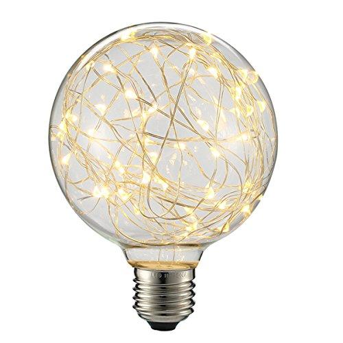 KINGSO Led Globe Vintage Glühbirne Lichterkette Lampe E27 Edison Lampe deko globe Glühbirne Led WarmweißLed deko Glühbirne G95(85-265V) Ideal für Nostalgie und Antik Beleuchtung