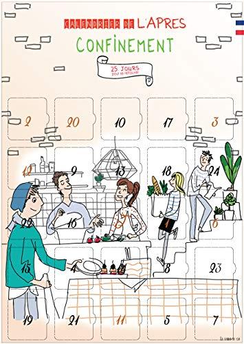 Kalender nach KonFINEMENT – 25 Wiederholungen zum Finden – Adventskalender 25 Tage – hergestellt in Frankreich