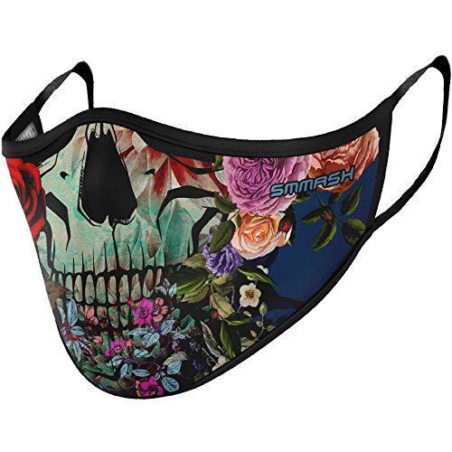 SMMASH Sommer Maske, Mundschutz Maske Wiederverwendbar, Licht, Leichtes Atmen, Gesichtsmaske Waschbar, Hergestellt in der Europäischen Union, maske für Damen und Herren (S/M)