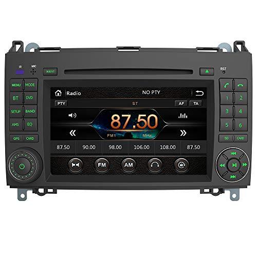 AWESAFE Autoradio 2 Din pour Mercedes Benz B200 Vito Viano W639 W245/Class B/Sprinter Clase A W169,Lecteur DVD/CD 7' Écran Tacile HD avec GPS Navigation/Commande au Volant/Vue Arrière de Recul/RDS