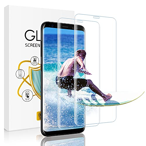 wsky Panzerglas Schutzfolie für Samsung Galaxy S9 [2 Stück], 3D Volle Abdeckung, 9H Härte, Anti-Kratzen, Anti-Bläschen, Einfache Montage, Ultra-klar Displayschutzfolie für Samsung Galaxy S9