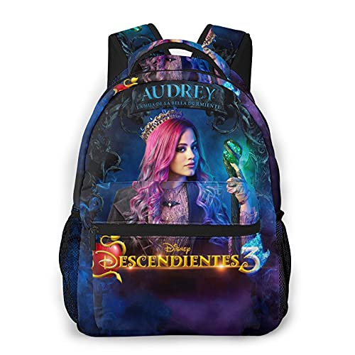 Audrey Carlos Descendants Kids School Backpack for Girls Boys Lightweight Durable Middle Elementary Daypack Book Bag