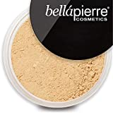bellapierre Mineral Foundation SPF 15 Loose Finishing Powder | All-Natural Vegan & Cruelty Free Full Coverage Concealer | Hypoallergenic & Safe for All Skin Types | Oil & Talc Free - 0.32 Oz Cinnamon