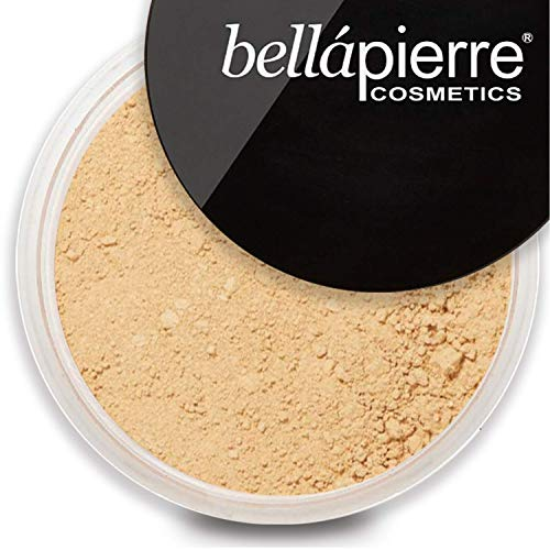 bellapierre Mineral Foundation SPF 15 Loose Finishing Powder   All-Natural Vegan & Cruelty Free Full Coverage Concealer   Hypoallergenic & Safe for All Skin Types   Oil & Talc Free - 0.32 Oz Cinnamon