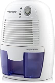 Pro Breeze Mini Luchtontvochtiger, Compacte en Draagbare 500 ml, Helpt tegen Vocht en Schimmel in Huis, Keuken, Slaapkame...