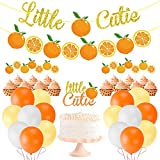 Little Cutie Baby Shower Decorations Little Cutie Citrus Garland Orange Cake Cupcake Toppers Balloons for Hey Cutie Birthday Party Supplies Tangerine Theme Baby Shower Clementine Fruit Party Decors