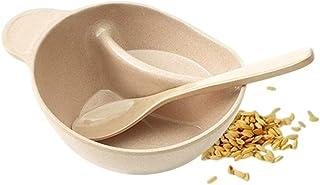 ERTONGHUANBAOCANJU Originative Coolheaded and Anti-scalding Rice Husk Environment-friendly Tableware (Color : Natural)