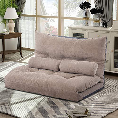 Merax Floor Sofa Bed Adjustable Sleeper Bed Sofa...