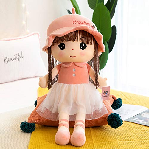 Muñeca De Trapo De Niña Muñeca De Juguete Muñeca De Princesa Que Acompaña La Almohada para Dormir para Enviar Regalos A Los Niños,Pink