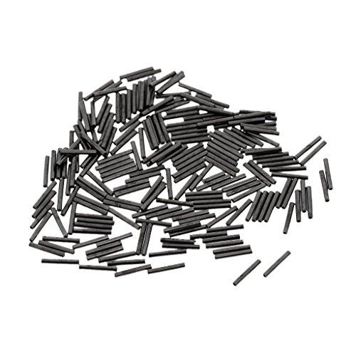 Gazechimp 200 Stück Angeln Klemm-Hülsen zur Stahlvorfachanfertigung für Mono & Drahtführer - 1.4