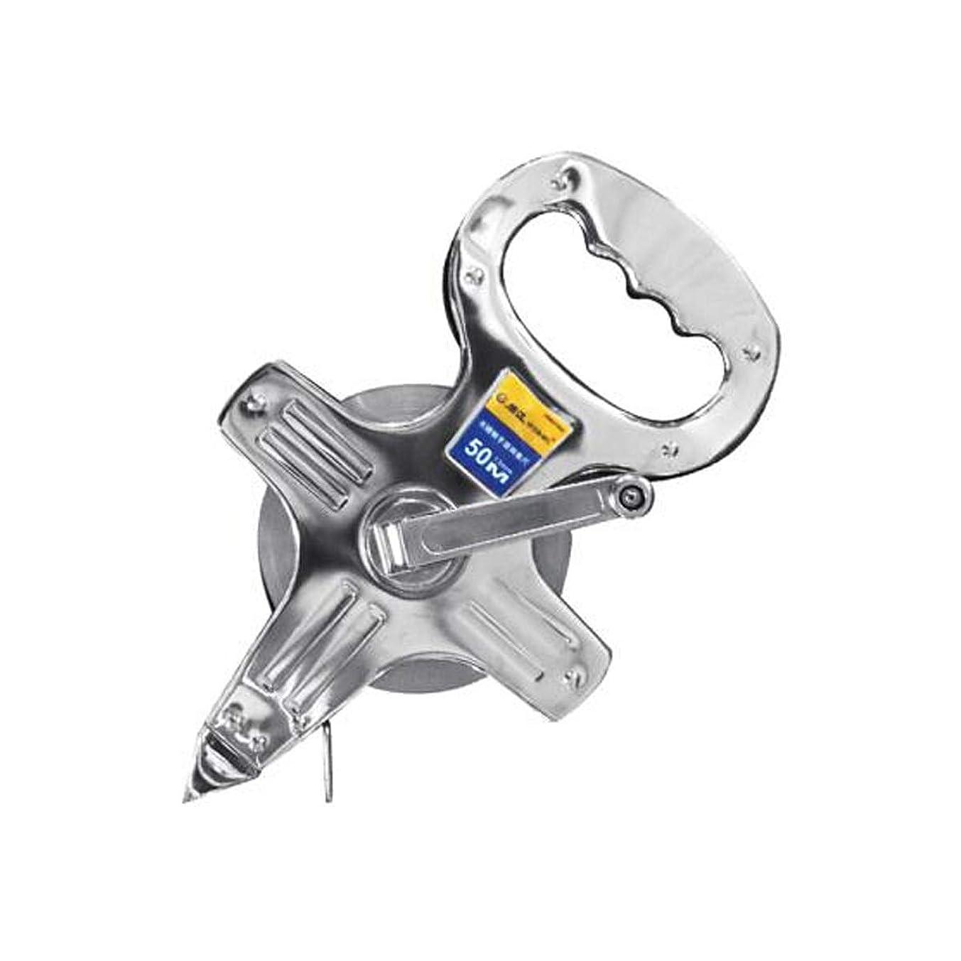 くまかすれたポスト印象派8HAOWENJU 定規、携帯用スチールテープメジャーステンレス鋼メッキテープメジャー工事現場30/50 / 100m (Color : Silver, Size : 100m)
