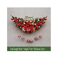 人工クリスマスリース - レッドベリー、クリスマスの装飾ドアまぐさ (Color : B)