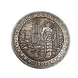 Weall Medusa Coin 1902 Wanderer Morgan Monedas Conmemorativas Plata Placa Artesanía Recoger Monedas Decoración del Hogar Regalos