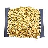 freneci Enlace de Cadena de Cable de Hierro de 12 M, Salto Abierto para Collar Colgante, Hallazgos de Joyería DIY - Dorado, Individual