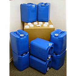 5 Gallon Samson Stackers, Blue, 8 Pack (40 Gallons), Emergency...