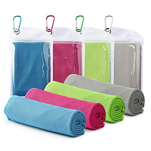 "Famiry 4 Packs Cooling Towel (40""x 12"")"