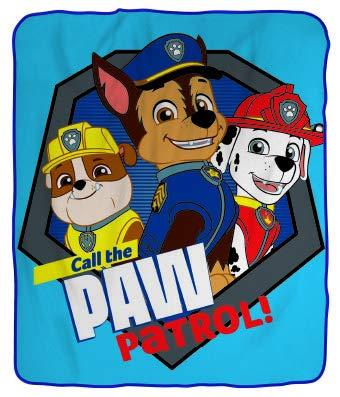 SkyBrands Paw Patrol Fleece Blanket Blue Boys Cuddle Blanket 130 x 170 cm