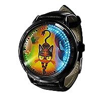 ポケモンコスプレ腕時計アニメピカチュウLED時計防水タッチスクリーンデジタルライトウォッチユニセックス腕時計コスプレ小道具ギフト