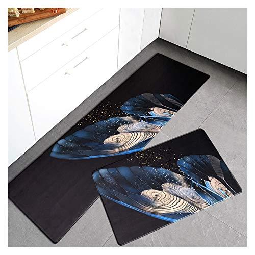 OMING Alfombra de cocina de PVC para el suelo de la cocina, de estilo ligero, de lujo, para el hogar, para el suelo, para el dormitorio, para el suelo (color: V, tamaño: 45 x 95 cm)
