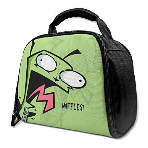 111111 Lnsulation Bags Portable Insulated Lunch Bags, Lunch Handbag, Lunch Box, Invader-Zim I Women Tote Bag Reusable Lunch Boxs for Work Outdoor, School, Office, Travel Girls
