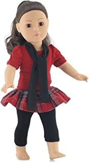 Emily Rose 18 Inch Doll Plaid Skirt & Leggings Outfit | Fits 18