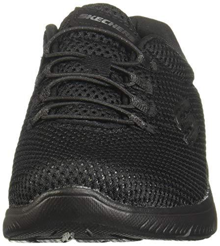 Skechers Summits, Zapatillas Mujer, Negro (BBK Black Mesh/Trim 85), 38 EU