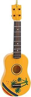 Tropical Design Ukulele Music Instrument Replica Christmas Ornament, Size 5 inch