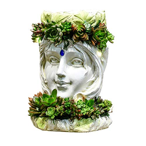 Resina Creativa Cisne Diosa Jardinera Planta barroca Animales Jardín Escultura Estatua Decorativa,...
