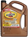 Pennzoil 550038340 High Mileage Vehicle 5W-30 Motor Oil (SN) 5qt jug