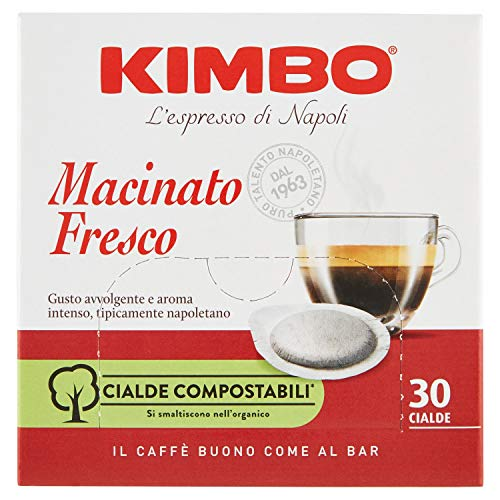 Kimbo Caffe' Macinato Fresco, 30 Cialde, 210g