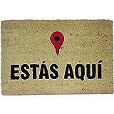 koko doormats Felpudo Entrada para casa y jardín, Estás Aquí, felpudos Entrada casa Originales y Divertidos, 40x60x1.5 cm, Coco con Base Antideslizante de PVC