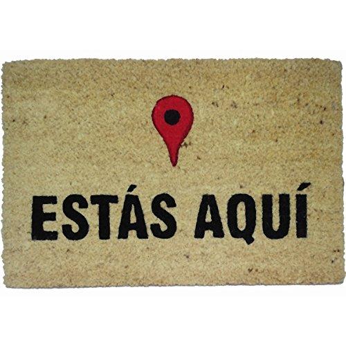 koko doormats Felpudo Entrada para casa y jardín, Estás Aquí, felpudos Entrada casa Originales y Divertidos, 40x60x1.5 cm,...