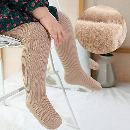 SanQing LOVE Les Filles d'hiver Doux Pantalons Collant Tight Knit bébé Leggings Couleur Chaude Chaussettes Longues pour Nourrissons Chaussettes Enfant en Bas âge Convient pour 0-10 Ans Filles,café,L