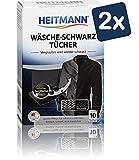 Heitmann Limpia Ropa Negra (10 Toallitas) - Pack de 2: Paños Lavadora de...