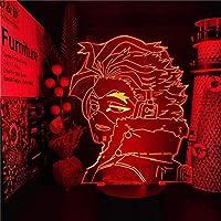 QLWLKJ 3Dナイトライト僕のヒーローアカデミアホークス3Dアニメランプナイトライト僕のヒーローアカデミアランパラforクリスマステーブルランプ-7色リモート HOICHAN