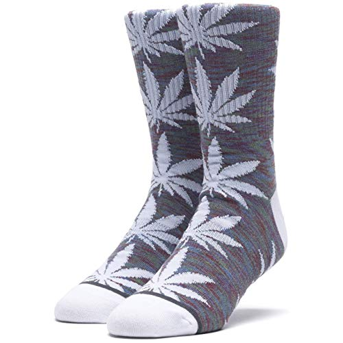 Huf Skateboard Socks Space Dye Leaves Plantlife Insignia Blue
