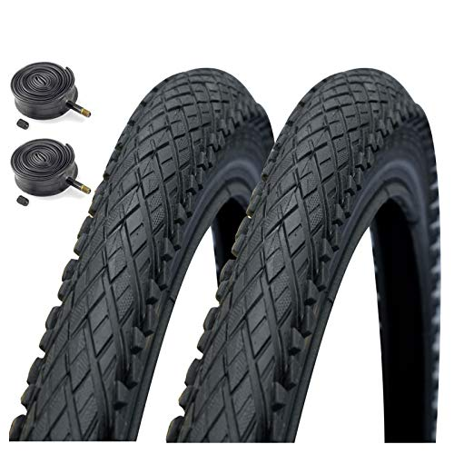 Impac Crosspac 26' x 2.0 Mountain Bike Tyres with Schrader Tubes (Pair)