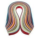 Kanggest 260Pcs Quilling Tiras de Papel Filigranas en 26 Colores Para Artesanía de Bricolaje y Arte de Papel (3 mm * 39 cm)