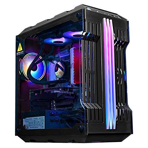 ZXFF Caso De Juego, Mid-Tower ATX/M-ATX/ITX PC Funda De Equipo De Juego, Panel Lateral De Vidrio Templado, USB 3.0, Estuche Refrigerado por Agua (Color : Black)