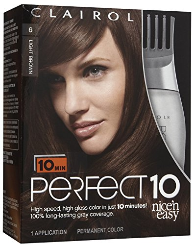 Clairol Perfect 10 by Nice 'n Easy Hair Color, 006, Light Brown