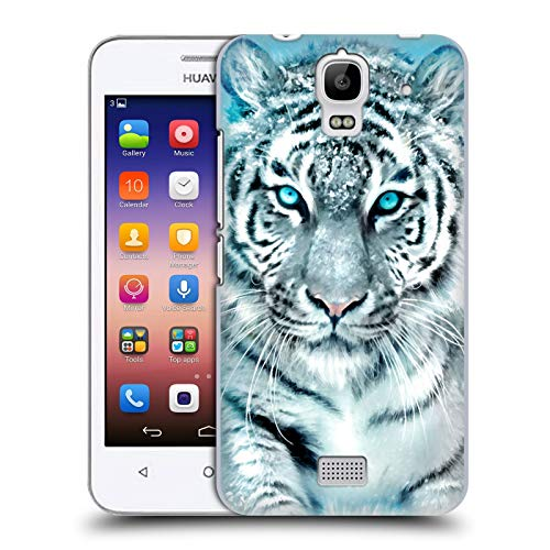Head Case Designs Offizielle Aimee Stewart Weisser Tiger Tiere Harte Rueckseiten Huelle kompatibel mit Huawei Y360 / Y3