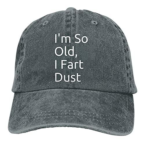 N  A I'm So Old I Fart Dust - Gorra de béisbol ajustable, unisex, color azul