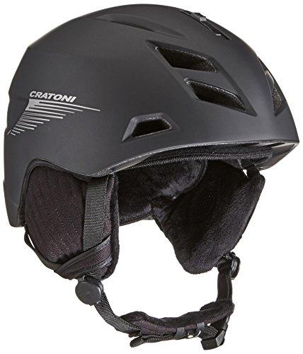 Cratoni Helm Tempest, Black-Silver Matt, 52-56 cm