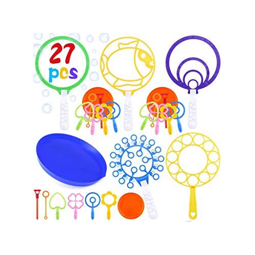 Juego de varitas de burbujas para niños, varitas de burbujas grandes, paquete de 27 juegos de varitas de burbujas grandes Juego de varitas de burbujas para actividades al aire libre de verano