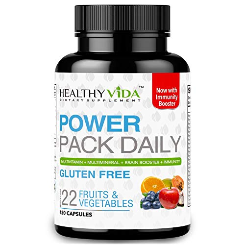 Healthy VIDA⢠Power Pack Daily Multi Vitamin, Multi Mineral and Nootropic for Women and Mens Health