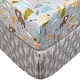 TEALP Spannbettlaken für Babybett Kinderbett - 60x120 bis 70x140 cm