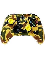 YUZI Silikonowa osłona gamepada z kamuflażu + 2 nasadki joysticka kompatybilne z kontrolerem Xbox- One X S
