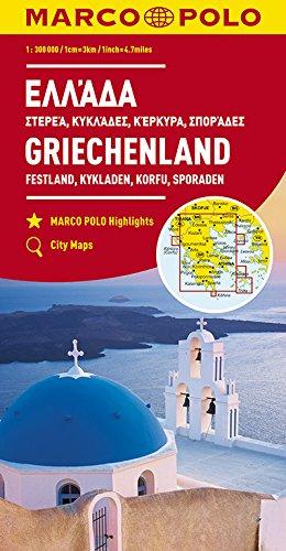 MARCO POLO Regionalkarte Griechenland: Festland, Kykladen, Korfu, Sporaden: 1:300 000 (MARCO POLO Karten 1:300.000)
